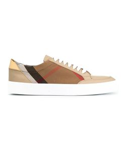 Burberry | House Check Sneakers 37.5 Leather/Cotton/Rubber