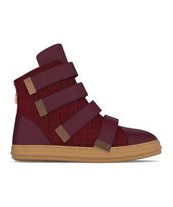 MYSWEAR | Bond Hi-Top Sneakers 37 Calf Leather/Crocodile Leather/Nappa