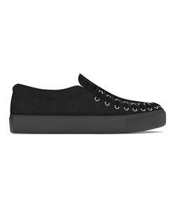 MYSWEAR | Conduit Slip-On Sneakers 36 Calf Leather/Crocodile Leather/Suede/Rubber