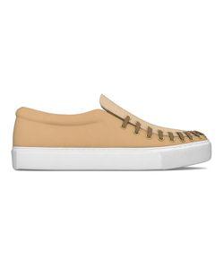 MYSWEAR | Conduit Slip-On Sneakers 40 Calf Leather/Crocodile Leather/Rubber