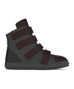 MYSWEAR | Bond Hi-Top Sneakers 38 Calf Leather/Nappa Leather/Ostrich Leather/Rubber