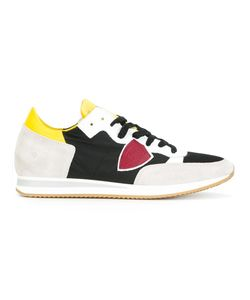 Philippe Model | Colour Block Lace-Up Sneakers 44 Suede/Polyamide/Leather/Rubber