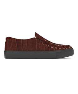 MYSWEAR | Conduit Slip-On Sneakers 46 Calf Leather/Crocodile Leather/Rubber