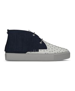 MYSWEAR | Maltby Mid-Top Sneakers 38 Calf Leather/Ostrich Leather/Suede/Rubber