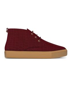 MYSWEAR | Maltby Mid-Top Sneakers 39 Calf Leather/Crocodile Leather/Rubber