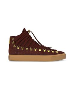 MYSWEAR | Redchurch Hi-Top Sneakers 45 Calf Leather/Crocodile Leather/Suede/Rubber