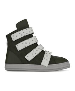 MYSWEAR | Bond Hi-Top Sneakers 35 Calf Leather/Nappa Leather/Ostrich Leather/Rubber