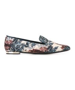 Burberry | Landscape Print Slippers 41 Silk/Leather