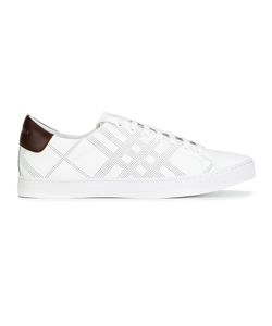 Burberry | Perforated Check Trainers 42 Calf Leather/Leather/Rubber/Polyurethane