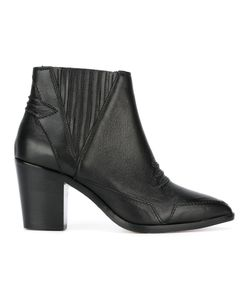 Diesel | Ribbed Trim Boots 38 Calf Leather/Polyurethane/Polyester/Leather