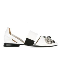 Toga | Embellished Cut-Out Slippers 38 Leather/Plastic