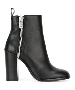 Diesel   Zip Up Boots 37 Calf Leather/Buffalo Leather/Polyester/Leather