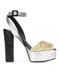 Giuseppe Zanotti Design | Betty Glitter Sandals 37.5 Calf