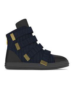 MYSWEAR | Bond Hi-Top Sneakers 45 Calf Leather/Crocodile Leather/Nappa Leather/Rubber
