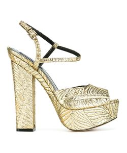 Dsquared2 | Ziggy Sandals 38 Silk/Goat Skin/Leather/Polyester