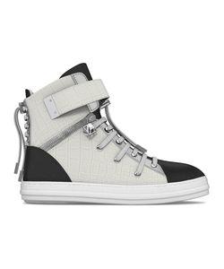 MYSWEAR | Regent Hi-Top Sneakers 43 Calf Leather/Crocodile Leather/Leather/Rubber