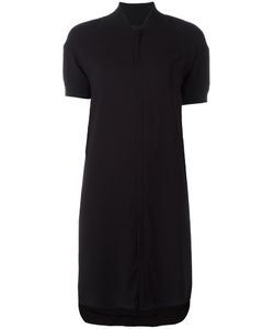 Diesel Black Gold | Ribbed Trim Shift Dress 40 Rayon/Spandex/Elastane/Polyester