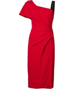 J. Mendel | One Shoulder Draped Dress 4 Silk/Silk Crepe J.