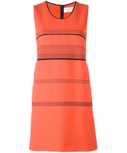 Victoria, Victoria Beckham | Victoria Victoria Beckham Striped Sleeveless Dress 8 Silk/Wool/Polyester/Cotton