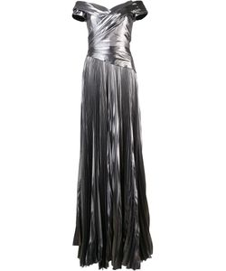 J. Mendel | Matte Pleated Dress 10 Silk