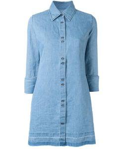 J Brand | Denim Shirt Dress Medium Cotton/Linen/Flax