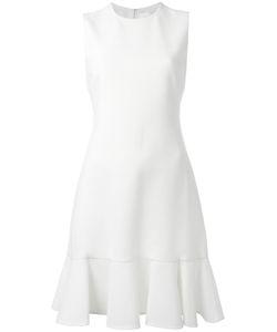 Victoria, Victoria Beckham | Victoria Victoria Beckham Peplum Hem Dress 12 Wool/Cotton/Polyester/Silk