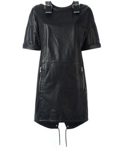 Diesel Black Gold | Stylised Buckles Dress 38 Rayon/Polyester/Goat Skin