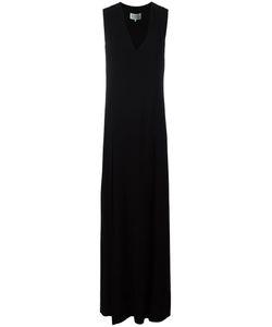 Maison Margiela | V-Neck Long Dress 42 Viscose/Spandex/Elastane/Acetate/Silk