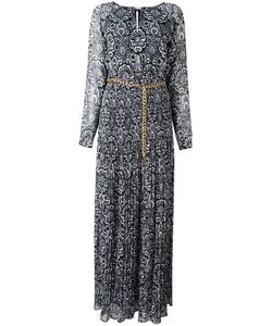 Michael Michael Kors | Abstract Print Long Dress Small Polyester/Metal