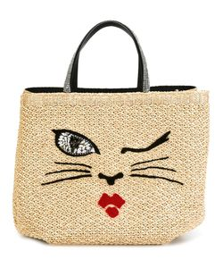 Ermanno Scervino | Woven Cat Motif Tote Viscose/Cotton/Glass