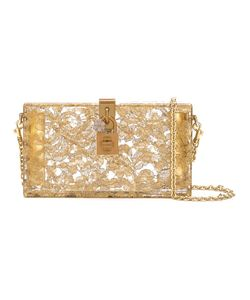 Dolce & Gabbana | Dolce Box Clutch Leather/Crystal/Metal