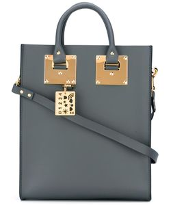 Sophie Hulme | Stylised Stud Detail Shoulder Bag Leather