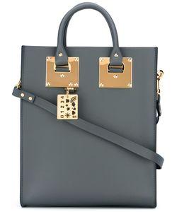 Sophie Hulme | Stylised Stud Detail Shoulder Bag Leather