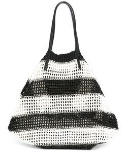 Ermanno Scervino | Striped Tote Cotton/Leather
