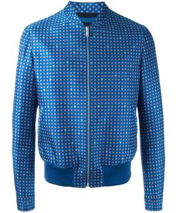 Alexander McQueen | Printed Bomber Jacket 46 Cotton/Viscose/Wool/Nylon