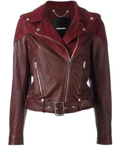Diesel | Cygni Biker Jacket Xs Sheep Skin/Shearling/Goat Skin/Cotton/Polyester