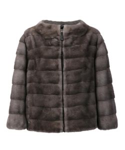 J. Mendel | Reversible Zipped Jacket 8 Mink Fur/Nylon