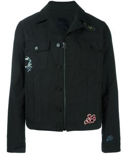Lanvin | Embroidered Zip-Up Denim Jacket 50 Cotton/Polyester