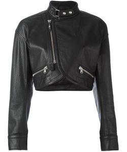 Diesel Black Gold | Lama Cropped Jacket 38 Calf Leather/Viscose
