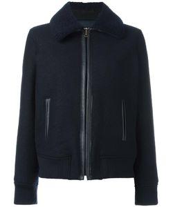 A.P.C. | Wide Lapel Bomber Jacket 40 Viscose/Wool/Sheep Skin/Shearling/Polyester