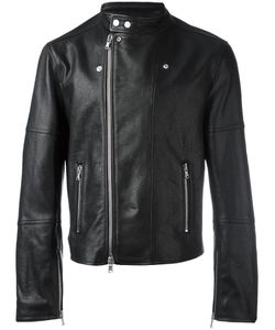 Diesel Black Gold | Zip Up Biker Jacket 52 Leather/Rayon