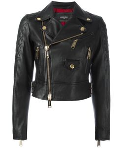 Dsquared2 | Quilted Detail Biker Jacket 42 Calf Leather/Viscose/Polyester