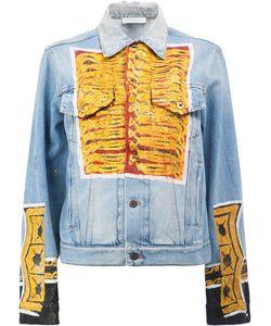 Faith Connexion | Glittery Print Denim Jacket Medium Cotton