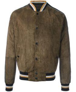 Lanvin | Sleeve Stripe Stadium Jacket 48 Lamb Skin/Viscose/Cupro/Cotton
