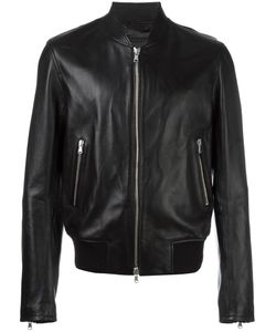 Diesel Black Gold | Diesel Zip Up Biker Jacket 46 Sheep Skin/Shearling/Viscose/Wool/Spandex/Elastane