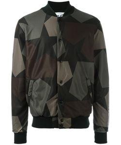 Ports | 1961 Camouflage Print Bomber Jacket Xl Cotton/Polyester