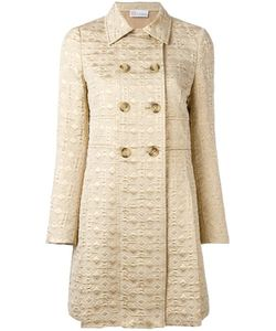 Red Valentino | Jacquard Double-Breasted Coat 44 Cotton/Polyester/Polyamide/Other Fibers