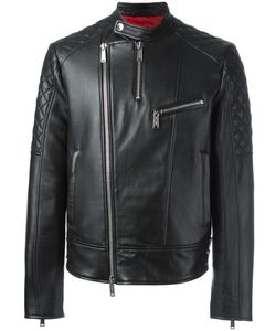 Dsquared2 | Quilt Sleeved Leather Jacket 48 Sheep Skin/Shearling/Polyester/Cotton