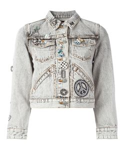 Marc Jacobs | Embellished Shrunken Denim Jacket Large Cotton