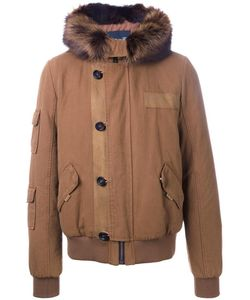 YVES SALOMON HOMME | Padded Hooded Jacket 50 Rabbit Fur/Cotton Yves Salomon